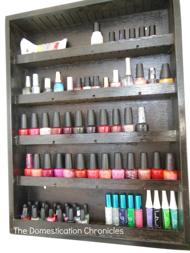 nail polish shelf